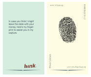 BinkNyc.com Business Card, BinkNyc, Brooklyn New York, Breuk Iversen