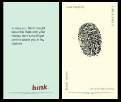 BinkNyc.com Business Card, BinkNyc, Brooklyn New York, Breuk Iversen