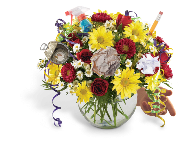 bouquet-of-trash