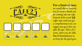Cafe 23 Business Card