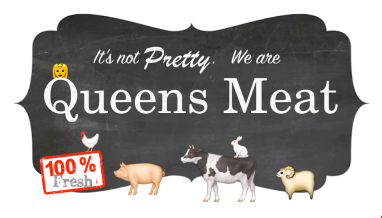 Business card for Queens Meat