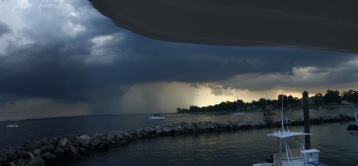 Storm approaching (on a $10M yacht with Ken Varga)
