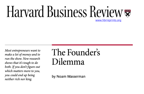 Harvard Business Review (founder's dilemma)