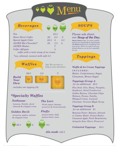 Sell Sheet (Winter menu)