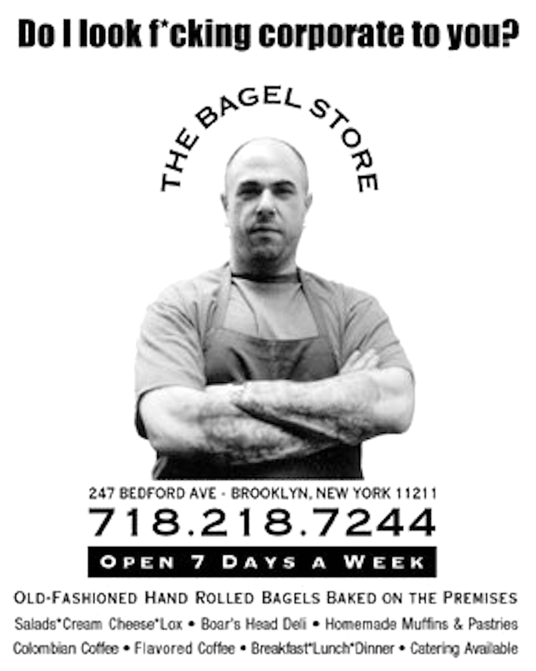 The Bagel Store (corporate to you)