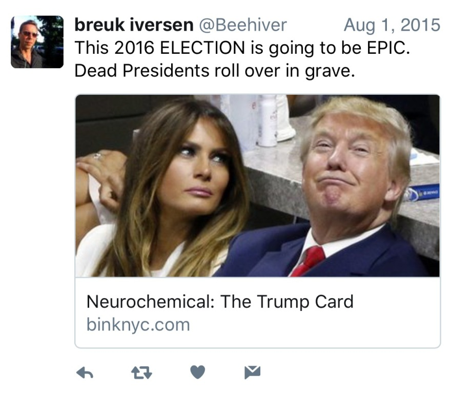 Breuk Iversen (Trump Twitter Post) February 2016