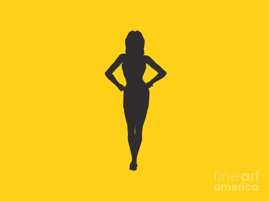 woman on yellow