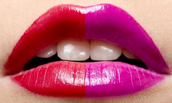 Two tone lady lips
