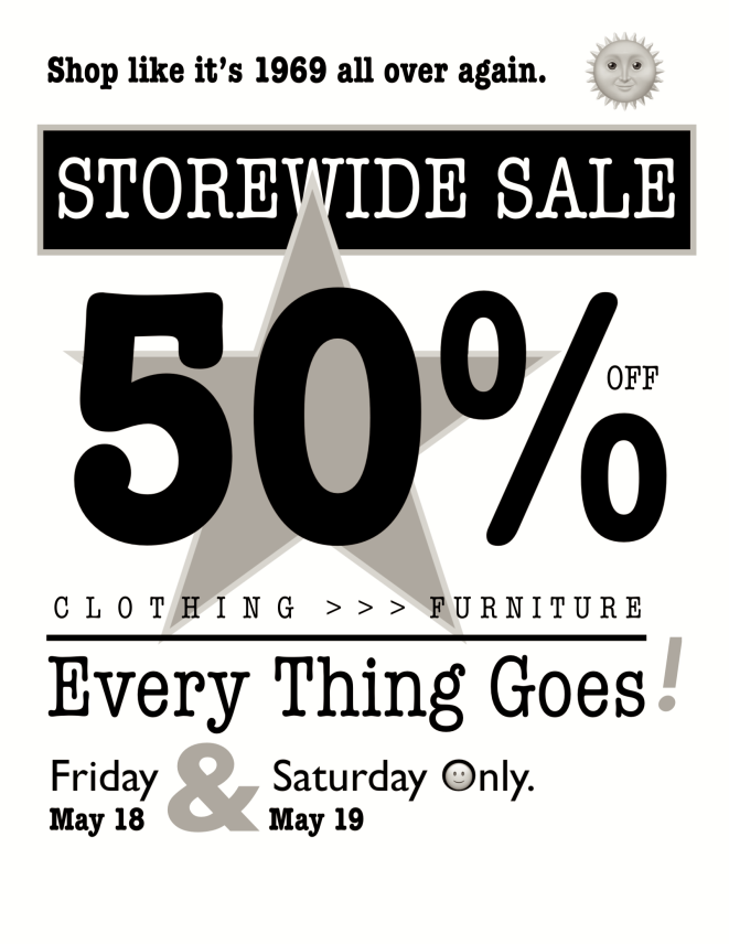 Every Thing Goes Sale Sign