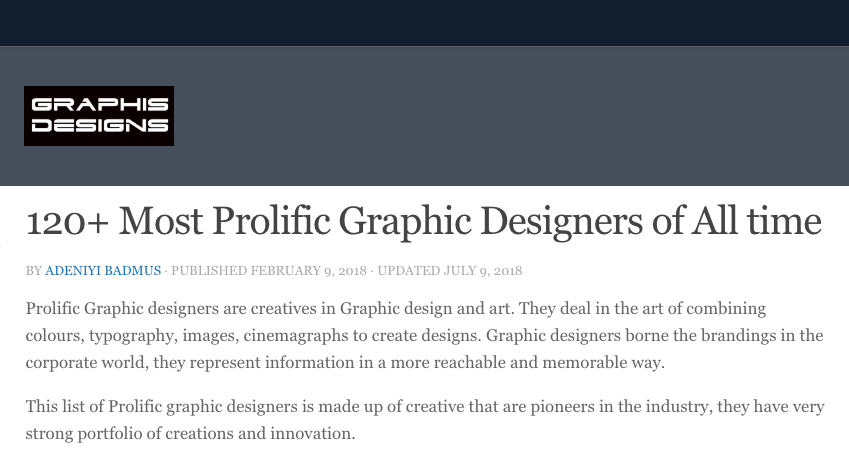 120 most prolific graphic designers of all time.